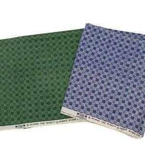 Vintage Debbie Mumm Green & Blue Fabric